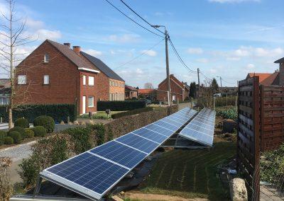 Axitec zonnepanelen constructie tuin