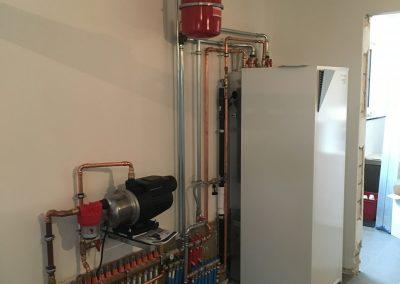 installatie verwarming sanitair met warmtepomp daikin in Heist op den Berg
