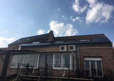 zonnepanelen gecombineerd met airco installatie te Aarschot